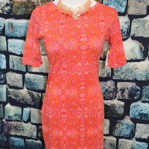 NWT Lularoe Julia Dress - Orange Boho